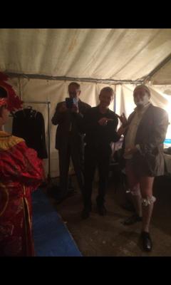 """Les coulisses durant """"La Magie fait son Cirque"""" en 2015"""