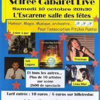 Soirée cabaret live 10 oct 2015