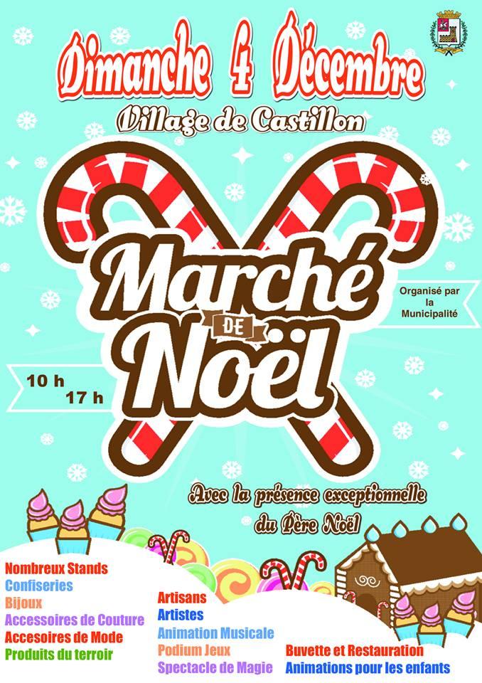 Affiche Marché de Noël Castillon