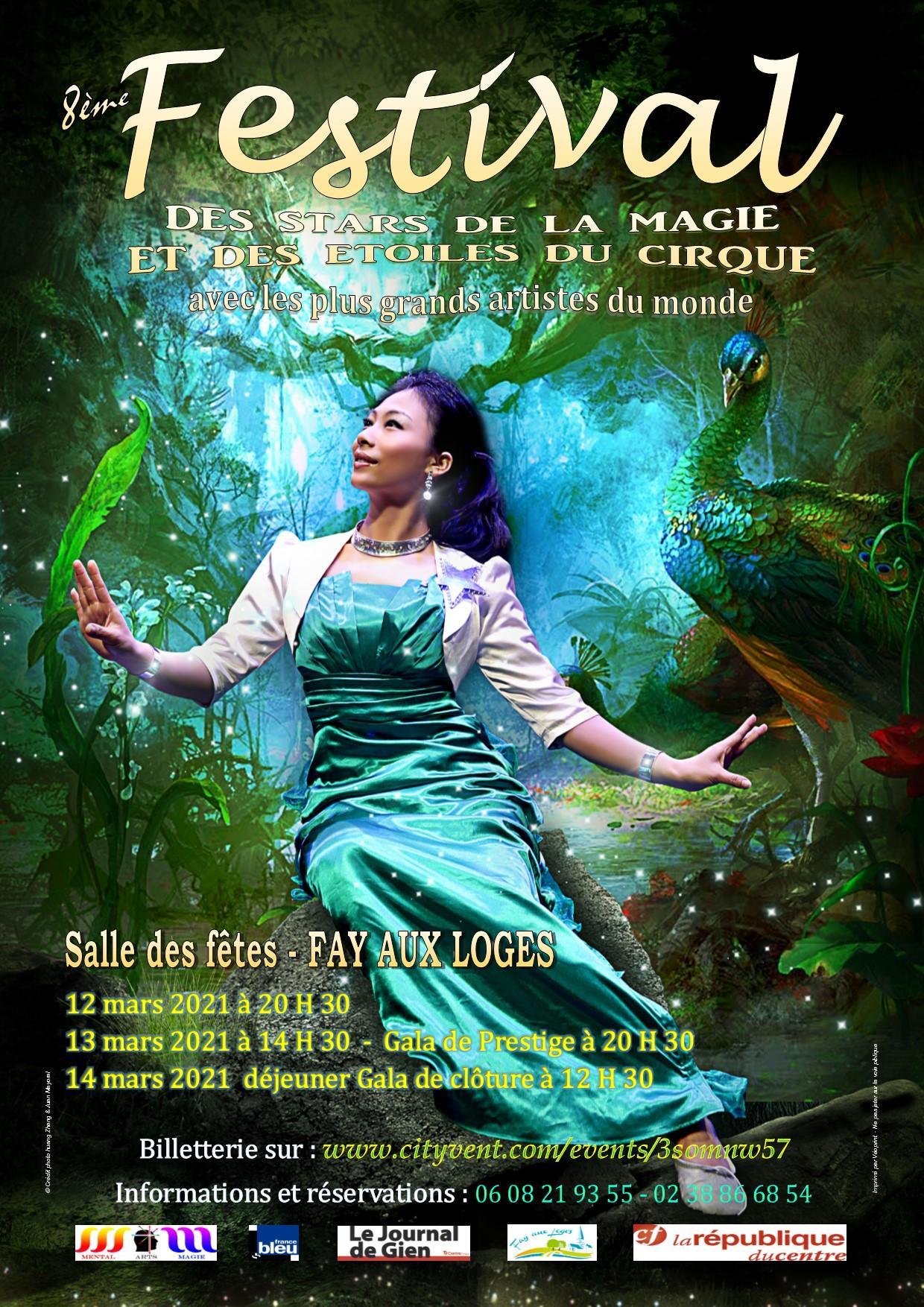 Projet de l affiche officielle du festival 2021 des stars de la magie et des etoiles du cirque v1 2